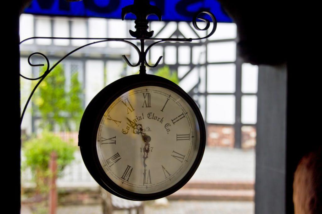 時間を刻む時計